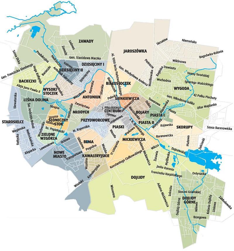 Mapa Osiedli Centrum Aktywnosci Spolecznej